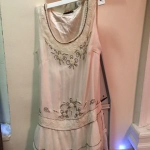 Vintage beaded drop waist dress